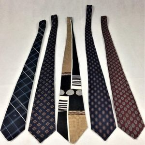Oscar de la Renta Lot Of 5 Men's Neckties
